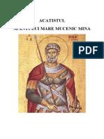 Acatistul Sfantului Mare Mucenic Mina - Brosura A5