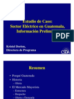 Sector Eléctrico en Guatemala