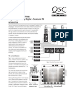 Qsc Amp Notes on Surroud Sound Film Track Systems
