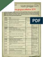 Calendario Visite GEA - Giugno / Ottobre 2011