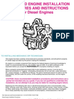 Engine Installation Procedures