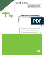 HP LJ P2015 Manual Toc