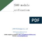 CC2500 Module Specification V1.0