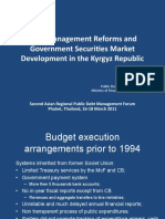 Cash Management Reforms and Government Securities Market Development in the Kyrgyz Republic