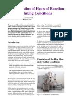 Det[1]. of Heats of Reaction Under Reflux, J. Wyss, 00724385