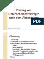 Präsentation_Prüfung von Unternehmensverträgen nach dem Aktiengesetz