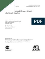 1996 - NASA - Technical Memorandum - Acoustic Radiation Efficiency Models of a Simple Gearbox