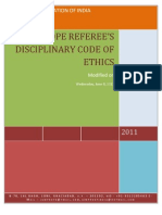 Referees Code of Ethics