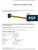 NonLinear Analysis of a Cantilever Beam
