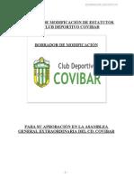 Borrador Estatutos CD Covibar Definitivo