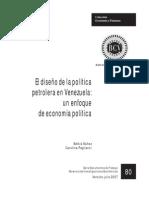 El diseño de la política petrolera en Venezuela