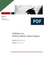 Rep. Weiner Media Analysis