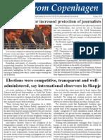 ΟSCE PA President Petros Efthymiou calls for increased protection of journalists