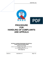 Procedure on Handling of Complaints Appeals
