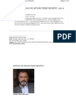 Articulo Arturo Perez Reverte