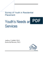 Survey of Youth in Residential Placement Needs and Services