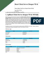 Aplikasi Client Server Dengan VB