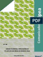 Comunicado do Ipea sobre as alterações no Código Florestal