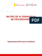 Matriz de Alternativas de Prove Ed Ores