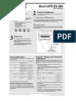 Apc Es500 Ups Manual
