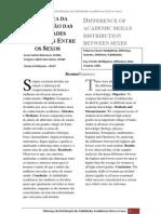 DIFERENÇA DA DISTRIBUIÇÃO DAS HABILIDADES ACADÊMICAS ENTRE OS SEXOS - Lucas Santos Marcasso (11039310) e Gregory Calixto dos Santos