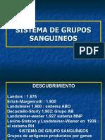 Sistema de Grupos Sanguineos