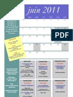 Agenda Juin 2011
