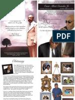 Funeral Program Design for Oscar Crowder