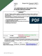 Zero-based service reviews - Calgary RFP for methodology