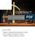Chapter 3- Contract