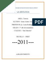 La Axiologia (Tutoria) --- Monografia XD