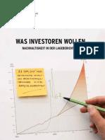 Was Investor En Wollen - Nachhaltigkeit in Der Lageberichterstattung
