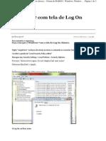 Faça com que o Windows 7 use a tela de Log On clássico