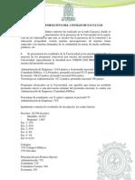 BOLETÍN INFORMATIVO DEL CONSEJO DE FACULTAD
