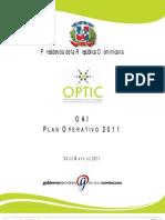 Plan Operativo OAI 2011(2)