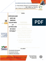APROVECHAMIENTO DE LA ENERGÍA SOLAR PARA LA EXTRACCIÓN DE AGUA POTABLE