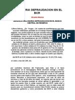 MILLONARIA DEFRAUDACION DEL BCR DEL PERU