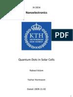 1.43080!Quantum Dots in Sollar Cells Aslam Hormozan
