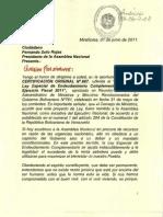 Ley especial de Endeudamiento 2011