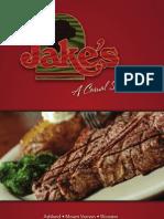 Jake's Restaurant Menu