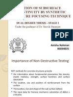 Synthetic aperture focussing Technique Presentation for testing concrete block