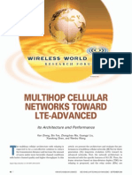 MULTIHOP CELLULAR NETWORKS TOWARD LTE-ADVANCED