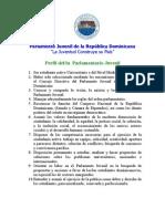 Perfil del Parlamentario Juvenil