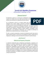 Información institucional Parlamento Juvenil