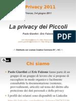 E-privacy2011-La Privacy Dei Piccoli