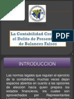 Delito de Presentacion de Balances Falsos.