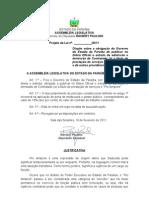 "Projeto  de Lei N°13.2011-   Obrigação do Governo do Estado da Paraíba de publicar no Diário Oficial o extrato da admissão e demissão de Contratado (a) a título de prestação de serviços e ""Pro tempore""- e dá outras providências."