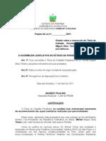 Projeto de Lei N° 118.2011 - Dispõe sobre a concessão do Título de Cidadão Paraibano ao Dr. Michel Miguel Elias Temer Lulia e dá outras providências.