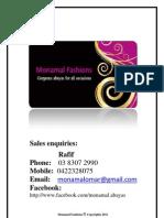 Monamal Abayas June Catalogue
