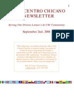 USC El Centro Chicano E-Newsletter - Sept.  2, 2008 Edition